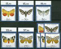 2 x Bund Nr. 1666 - 1670 postfrisch 1 x mit Oberrand Schmetterlinge BRD 1992 MNH