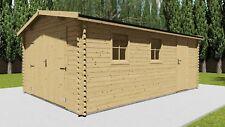 Holzgarage 40mm Garage Holz mit Holztor - 3.9x5.8m - Vigo 40013