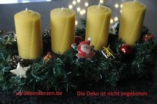 4 x Bees Wax Candles XL 100% Bees Wax Candles 125 x 65mm Handmade from D