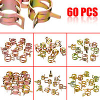 60Pcs 7-17mm Spring Clip Fuel Oil Water Hose Pipe Tube Clamp Fastener Tool Kit