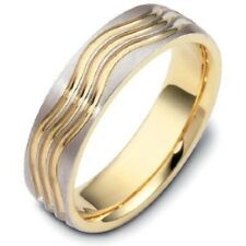 Two Tone Solid Band Ring Solid 925 Sterling Silver Ring RSG 443