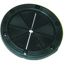 """DECK PLATE SDP1DP OD 5-5//8/"""" COVERS 4/"""" HOLE BLACK FLAT COVER BOATINGMALL"""