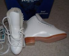 NEW PAIR OF RIEDELL F 355 WOMENS FIGURE SKATES WHITE SZ 4 c WIDTH BOOTS ONLY