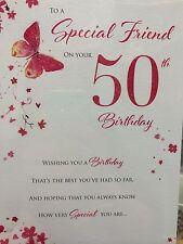 Amigo especial 50th tarjeta de cumpleaños