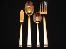 WEDGWOOD VERA WANG CHIME SATIN Stainless Flatware 4 Pc Hostess Set NIB