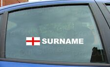 x2 Rally Tag Name Surname Window Stickers Decals England St George Flag ref:2