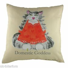 "17"" ANN EDWARDS DOMESTIC GODDESS CAT Cushion Evans Lichfield CR350"