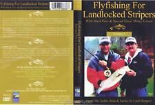 Bass Fishing Flyfishing Landlocked Stripers DVD NEW