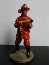 soldat de plomb - Pompier tenue d'intervention lance , Bolivie 1995 - Delprado