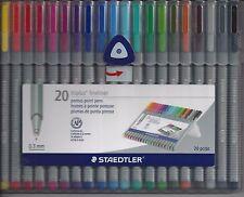 STAEDTLER 20 Piece TRIPLUS FINELINER Water Based Ink Marker Marking Pen Set