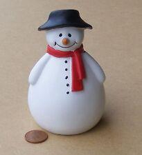 Escala 1:12 el hombre de nieve de Navidad Roly Casa De Muñecas En Miniatura De Navidad Accesorio