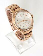 Esprit Damen Uhr Rachel rosé gold Edelstahl Steine Datum fein ES108562003
