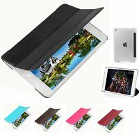 For New Apple iPad Mini 4 Luxury PU Leather Smart Case Flip Stand Magnetic Cover