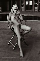 1981 Vintage Female Nude LAURIE LIVINGSTON By HELMUT NEWTON Pool Photo Art 11X14