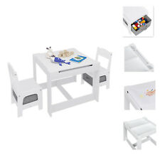 Kindersitzgruppe Aufbewahrungskörben Kindermöbel Kindertisch 2 Stühle Spieltisch