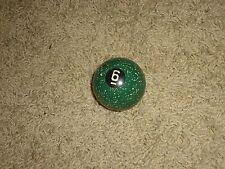 "Antique Vintage Brunswick Speckled Agate Billiard Pool Ball, 2 1/8"", # 6"
