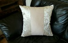 "4 22"" Trendy New Crushed Velvet 3 Panel cushion covers in cream."