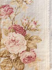 Dan River Single King Pillowcase Cottage Roses Cotton Sateen 26 X 39 Blue Pink
