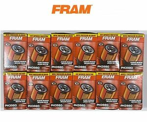NEW CASE OF 12 Oil Filter PH3980 FRAM Engine -Extra Guard Fits Chevrolet, GMC