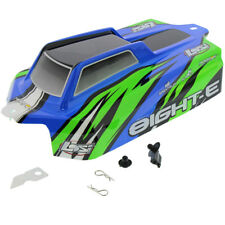 Losi 8IGHT-E Buggy 4WD 1/8: Blue & Green Body, Posts Clips, Shell Cover Lid