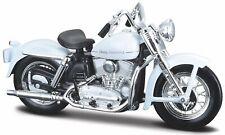Harley Davidson Modelo, 1952k Modelo Blanco (37 ), Maisto Moto 1:18