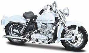 Harley Davidson Modèle, 1952 K Modèle Blanc (37), Maisto Moto 1:18