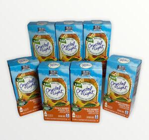 7-Crystal Light Sugar-Free Peach Mango Green Tea Drink Mix 70 On-the-Go Packets