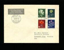 Switzerland 1947 Pro Juventute Flora Addressed  FDC Sc B166-69 /Zum J121-4