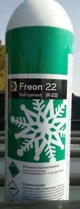 R 22   VIRGIN FREON  35 OZ  CAN   FREE CONECTOR