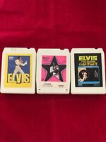 ELVIS VINTAGE (3) 8 TRACK TAPES BULK LOT
