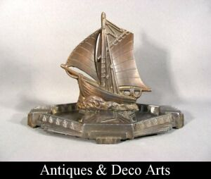 Art Deco Ashtray with Sailing Ship