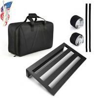 Large Black Guitar Effect Pedal Board Case and Aluminium Pedalboard Bag Case USA