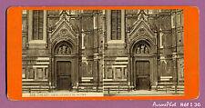 VUE STÉRÉO ITALIE : FIRENZE, FLORENCE, LA PORTE DE LA CATHÉDRALE, DUOMO -I30