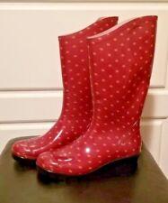 COLUMBIA RAIN BOOTS, Woman's Sz 7 Polka dot Red NEW!