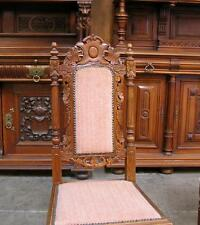881425 : Pair of Antique Carved French Hunt Side Chairs