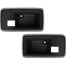 1975-1981 TRANS AM CAMARO - INTERIOR DOOR HANDLE BEZEL CUP SET - BLACK / CHROME