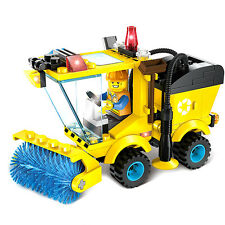 102 Pcs City Road Sweeper Building Blocks Kids Children Toys Set Christmas Gift