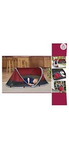 KidCo P3010 Peapod Portable Indoor Outdoor Travel Bed Cranberry