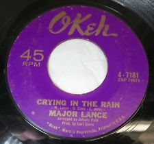45 RPM RECORD MAJOR LANCE CRYING IN THE RAIN / HEY LITTLE GIRL  OKEH RECORDS