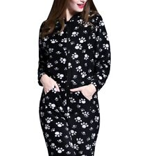 f8714ccd64b Ladies Womens Fleece Onesie All in One Playsuit Jumpsuit Pyjamas Animal  Print Black-white Paw