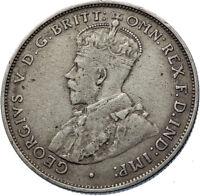 1935 AUSTRALIA - UK King George V Kangaroo Silver Florin Australian Coin i72429