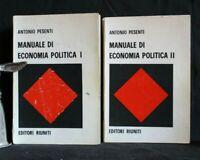 MANUALE DI ECONOMIA POLITICA I e II. Antonio Pesenti. Editori Riuniti.