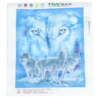 DIY 5D Diamond Embroidery Painting Wolf Cross Stitch Kit Craft Home Decor T4B9