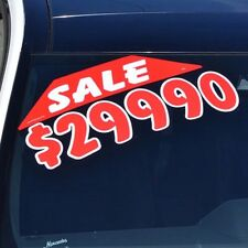 "Car Dealer Window Stickers Large Corner Slogans Red and White 20 packs 23"" X 5"""