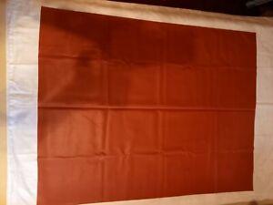 Alte DDR Betteinlage , Gummiunterlage großes Gummilaken ca 100 x 79 cm rotbraun