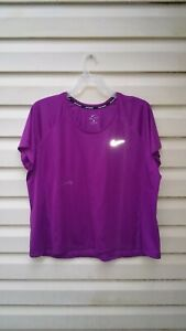 Nike Running Dri-Fit Top Tennis Athletic Workout Purple  Womens Plus 3X EUC