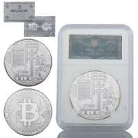 WR Bitcoin Moneda de Plata Física Monedas BTC Conmemorativas Regalos para Él