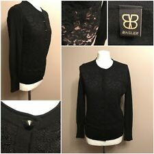 ladies blaser black cardigan with lace front long sleeves used 12??