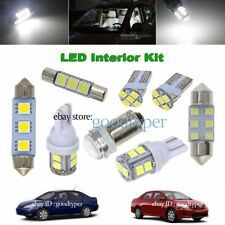 6x White LED Map Dome Light interior bulb package kit fit 03-2013 Toyota Corolla
