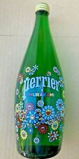 Takashi Murakami flowers serigraph printed   Perrier Bottle 75 cl in hand